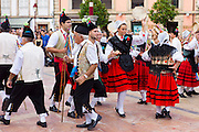 Traditional fiesta at Villaviciosa in Asturias, Northern Spain