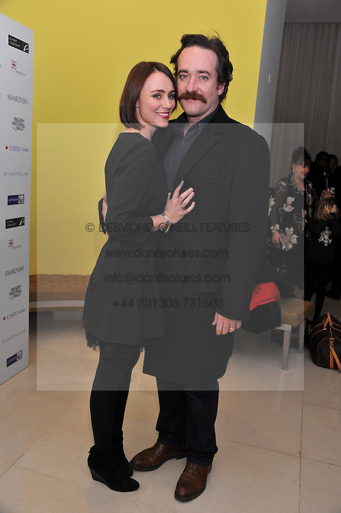 KEELEY HAWES and MATTHEW MACFAYDEN at the pre party for the English National Ballet's Christmas performance of The Nutcracker held at the St.Martin's Lane Hotel, St.Martin's Lane, London on 14th December 2011.
