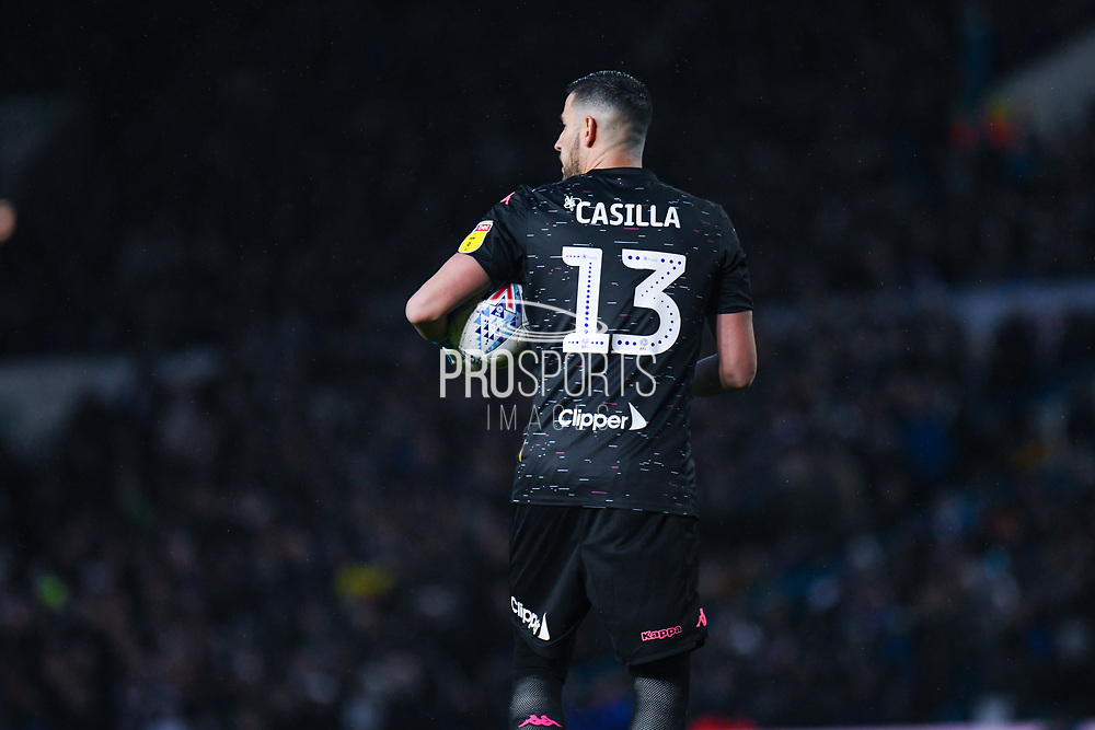Leeds United goalkeeper Francisco Casilla (13) during the EFL Sky Bet Championship match between Leeds United and Queens Park Rangers at Elland Road, Leeds, England on 2 November 2019.