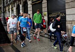 26-04-2015 NED: We Run 2 Change Diabetes NY 2015, Arnhem<br /> We run to change diabetes, training op de halve marathon van Madrid met de groep hardlopers van Novo Nordisk Spanje die op 1 november 2015 hun grenzen gaan verleggen in de marathon van New York / Jeroen, Jose, Bas