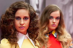 © Licensed to London News Pictures. 25/04/2016. London, UK. Models at the Pro Hair Live event at Olympia in west London.  The show brings the latest innovation in hair care to professional hairdressers and barbers.  Photo credit : Stephen Chung/LNP
