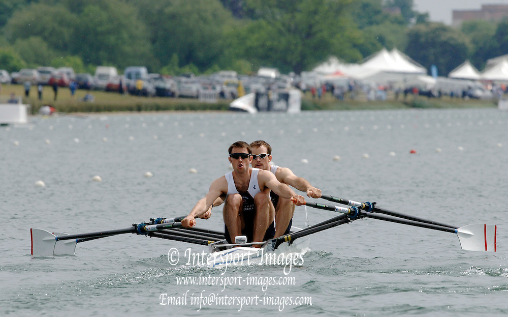 2005 FISA World Cup, Dorney Lake, Eton, ENGLAND, 26.05.05. Mark Hunter stroke and James Lindsey-Fynn.Photo  Peter Spurrier. .email images@intersport-images...[Mandatory Credit Peter Spurrier/ Intersport Images] , Rowing Courses, Dorney Lake, Eton. ENGLAND