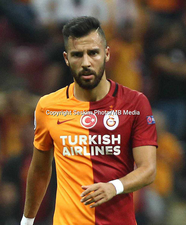 UEFA Champions League Group C football match between Galatasaray and Atletico Madrid at Turkk Telekom Arena in Istanbul, Turkey, 15 September 2015<br /> Final Score: Galatasaray 0 - Atletico Madrid 2<br /> Pictured: Yasin Oztekin of Galatasaray.