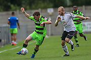 Forest Green Rovers Luke James(33) runs forward during the Pre-Season Friendly match between Weston Super Mare and Forest Green Rovers at the Woodspring Stadium, Weston Super Mare, United Kingdom on 18 July 2017. Photo by Shane Healey.