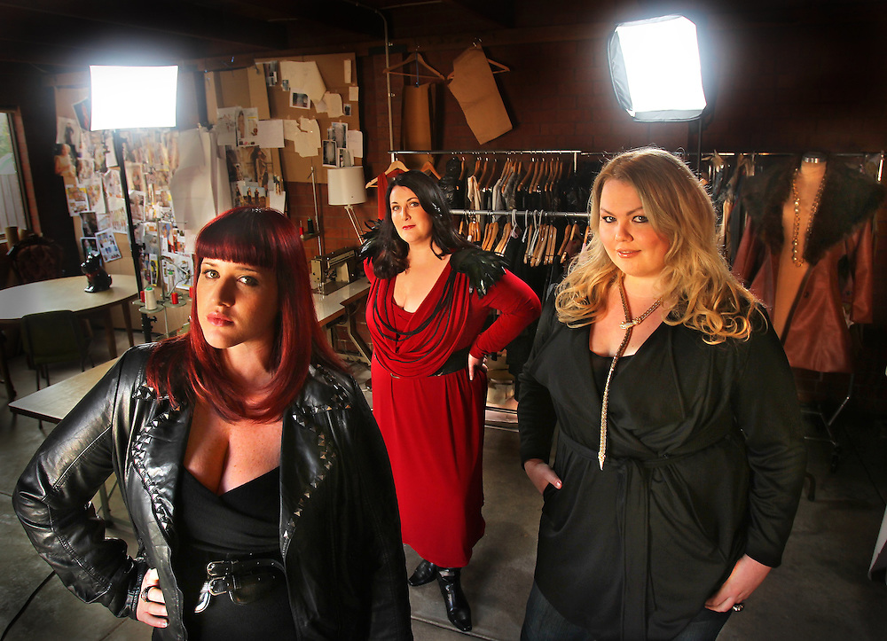 Melbourne will host Australia s first ever plus-size fashion trade and consumer event in March next year, dedicated to size 16+ fashion. The event, called Real Women Revolution, is being launched by Melbourne woman Janine Mison  middle , with are model Teer Wayde  left  and designer Harvest Powell  - Pic By Craig Sillitoe 03/06/2010 SPECIAL 000 melbourne photographers, commercial photographers, industrial photographers, corporate photographer, architectural photographers, This photograph can be used for non commercial uses with attribution. Credit: Craig Sillitoe Photography / http://www.csillitoe.com<br />