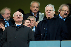 LONDON, ENGLAND - Saturday, December 12, 2009: Everton's chairman and owner Bill Kenwright and Chelsea's chairman Bruce Buck (L) during the Premiership match at Stamford Bridge. (Photo by David Rawcliffe/Propaganda)