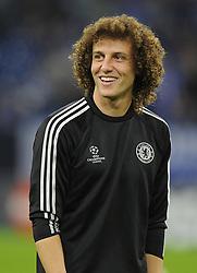 Chelsea's David Luiz - Photo mandatory by-line: Joe Meredith/JMP - Tel: Mobile: 07966 386802 22/10/2013 - SPORT - FOOTBALL - Veltins-Arena - Gelsenkirchen - FC Schalke 04 v Chelsea - CHAMPIONS LEAGUE - GROUP E