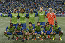 November 2, 2017 - Seattle, Washington, U.S - Soccer 2017: Seattle Sounders starting eleven as the Vancouver Whitecaps and Seattle Sounders play in MLS Western Conference semi-final match at Century Link Field in Seattle, WA. (Credit Image: © Jeff Halstead via ZUMA Wire)