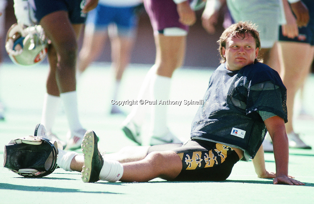 The National Football Conference New Orleans Saints kicker Morten Anderson looks on  during the week of the 1989 NFL Pro Bowl football game against the American Football Conference on Jan. 24, 1989 in Honolulu. The NFC won the game 34-3. (©Paul Anthony Spinelli)