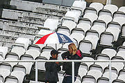 Rain delays the start of play during the Specsavers County Champ Div 1 match between Surrey County Cricket Club and Hampshire County Cricket Club at the Kia Oval, Kennington, United Kingdom on 18 August 2019.