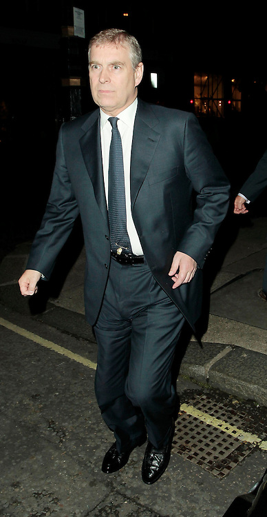 14.JUNE.2010 - LONDON<br /> <br /> PRINCE ANDREW LEAVING HARRY'S BAR IN MAYFAIR.<br /> <br /> BYLINE: EDBIMAGEARCHIVE.COM<br /> <br /> *THIS IMAGE IS STRICTLY FOR UK MAGAZINES AND WORLDWIDE SALES ONLY*<br /> *FOR WEB USE PLEASE CONTACT EDBIMAGEARCHIVE - 0208 954 5968*