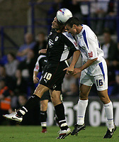 Photo: Paul Thomas.<br /> Tranmere Rovers v Bristol City. Coca Cola League 1. 08/09/2006.<br /> <br /> Bristol's Phil Jevons (L) and Chris McCready go for the ball.