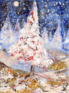 painted christmas trees