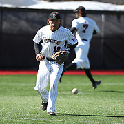 Mike Piscopo #19 of the Northeastern Huskies fields a ground ball during the game at Friedman Diamond on March 16, 2014 in Brookline, Massachusetts. (Photo by Elan Kawesch)