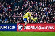 17.11.2015. Copenhagen, Denmark. <br /> Zlatan Ibrahimovic of Sweden in action during their UEFA EURO 2016 play-off second leg match at the Telia Parken Stadium. <br /> Photo: © Ricardo Ramirez.