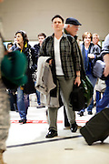 Passengers who recently landed at Hartsfield-Jackson Atlanta International Airport in Atlanta, Georgia head to luggage claims January 6, 2009.