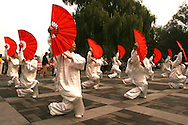 The Chinese Fan Dance is known for its beautiful and delicate poses.  Similar in style, the banner or handkerchief dance originated in the north of China. It is noted for its skilful and difficult motions. It is one of the popular among ordinary people and serves as a kind of exercise as well.