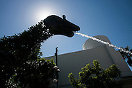The dinosaur fountains in Santa Monica