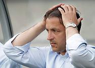 15-05-2008 Voetbal:RKC Waalwijk:ADO Den Haag:Waalwijk<br /> Petrovic ziet dat zijn ploeg een goede mogelijkheid mist <br /> Foto: Geert van Erven