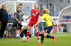 Flo Allen of Bristol City Women takes on Holly Pickett of Oxford United - Mandatory by-line: Robbie Stephenson/JMP - 25/06/2016 - FOOTBALL - Stoke Gifford Stadium - Bristol, England - Bristol City Women v Oxford United Women - FA Women's Super League 2