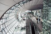 Departure gates at Suvarnabhumi International Airport, Bangkok, Thailand (Model Released)