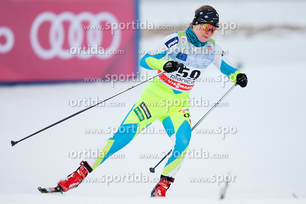 Anja Zavbi Kunaver of Slovenia during Ladies 1.2 km Free Sprint Qualification race at FIS Cross Country World Cup Planica 2016, on January 16, 2016 at Planica, Slovenia. Photo By Urban Urbanc / Sportida