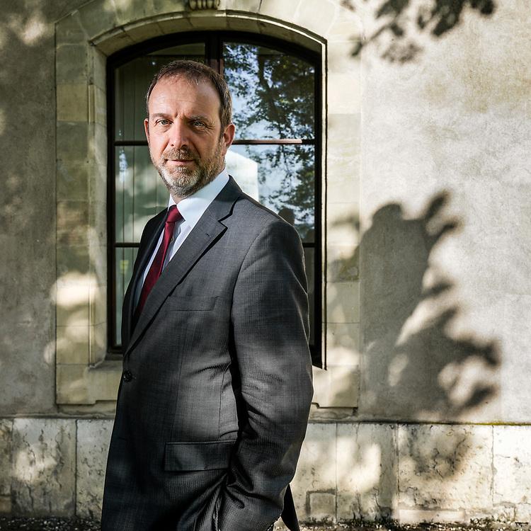 Thierry Apoth&eacute;loz, candidat socialiste au Conseil d'Etat genevois.<br /> Gen&egrave;ve, avril 2018<br /> &copy; Nicolas Righetti /Lundi13.ch
