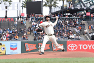 April 11, 2018 - San Francisco, CA, U.S. - SAN FRANCISCO, CA - APRIL 11: San Francisco Giants Starting Pitcher Andrew Suarez (59) throws a pitch during the game between the Arizona Diamondbacks and the San Francisco Giants on Wednesday, April 11, 2018 at AT&T Park in San Francisco, CA (Photo by Douglas Stringer/Icon Sportswire) (Credit Image: © Douglas Stringer/Icon SMI via ZUMA Press)