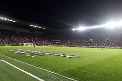 14.03.2019, Eden Arena, Prag, CZE, UEFA EL, SK Slavia Praha vs Sevilla FC, Achtelfinale, Rückspiel, im Bild KIBICE FANS SLAVIA SINOBO STADIUM EDEN // during the UEFA Europa League round of 16, 2nd leg match between SK Slavia Praha and Sevilla FC at the Eden Arena in Prag, Czech Republic on 2019/03/14. EXPA Pictures © 2019, PhotoCredit: EXPA/ Newspix/ Michal Chwieduk<br /> <br /> *****ATTENTION - for AUT, SLO, CRO, SRB, BIH, MAZ, TUR, SUI, SWE, ITA only*****