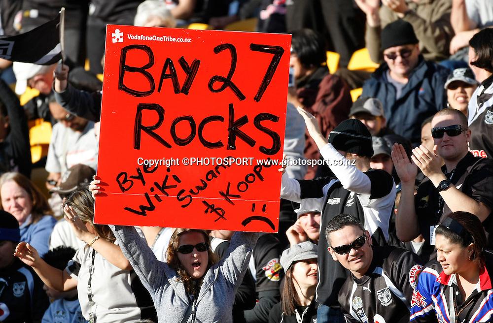 Warriors fans. NRL, Vodafone Warriors v Penrith  Panthers, Mt Smart Stadium, Auckland, Sunday 31 August 2008. Photo: Andrew Cornaga/PHOTOSPORT