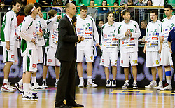 Team of Olimpija before the Euroleague basketball match in 6th Round of Group C between KK Union Olimpija and Maccabi Tel Aviv, on December 3, 2009, in Arena Tivoli, Ljubljana, Slovenia. Maccabi defeated Union Olimpija 82-65. (Photo by Vid Ponikvar / Sportida)