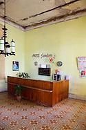 Hotel reception in San Diego de los Banos, Pinar del Rio, Cuba.