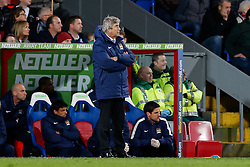 Manchester City Manager Manuel Pellegrini looks frustrated - Photo mandatory by-line: Rogan Thomson/JMP - 07966 386802 - 06/04/2015 - SPORT - FOOTBALL - London, England - Selhurst Park - Crystal Palace v Manchester City - Barclays Premier League.