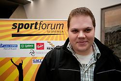 na okrogli mizi na 1. slovenskem hokejskem forumu v organizaciji SportForum Slovenija, November 30, 2011, Kristalna Palaca, BTC City, Ljubljana, Slovenija. (Photo By Matic Klansek Velej / Sportida)