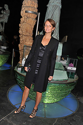 SAFFRON ALDRIDGE at The Global Party held at The Natural History Museum, Cromwell Road, London on 8th September 2011.