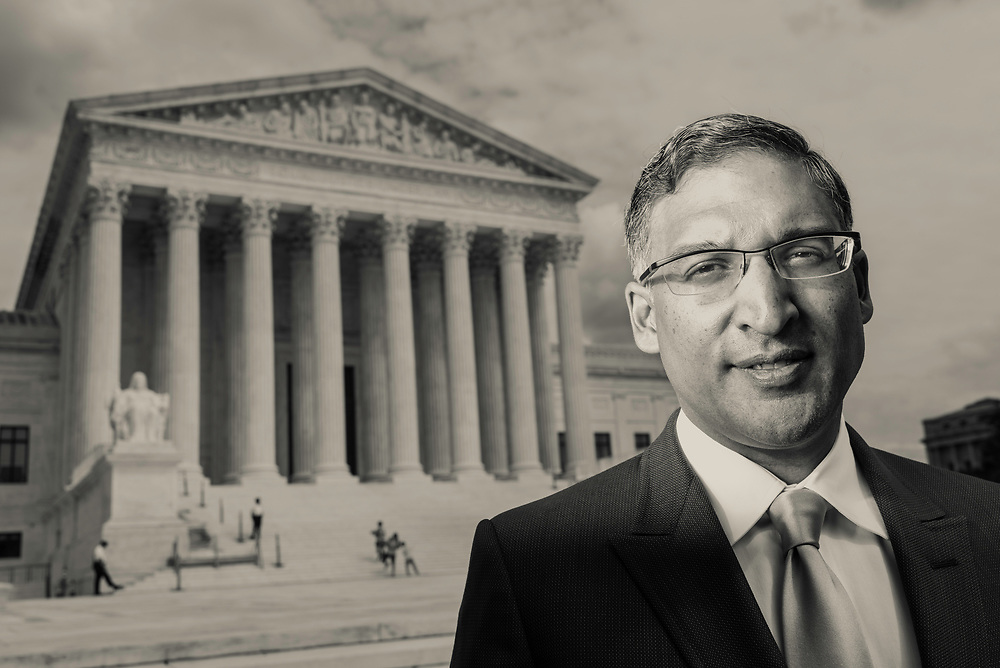 WASHINGTON, DC -- 8/10/17 -- Supreme Court lawyer Neal Katyal is one of the leading attorneys for the state of Hawaii as they fight President Trump's travel ban. Katyal, now an attorney with Hogan Lovells, and former Acting Solicitor General, has argued more cases before the Supreme Court, 34, than any other minority attorney except Thurgood Marshall, with whom he's currently tied..…by André Chung #_AC13988