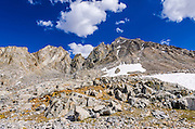 Mount Agassiz above Bishop Pass, John Muir Wilderness, Sierra Nevada Mountains, California USA