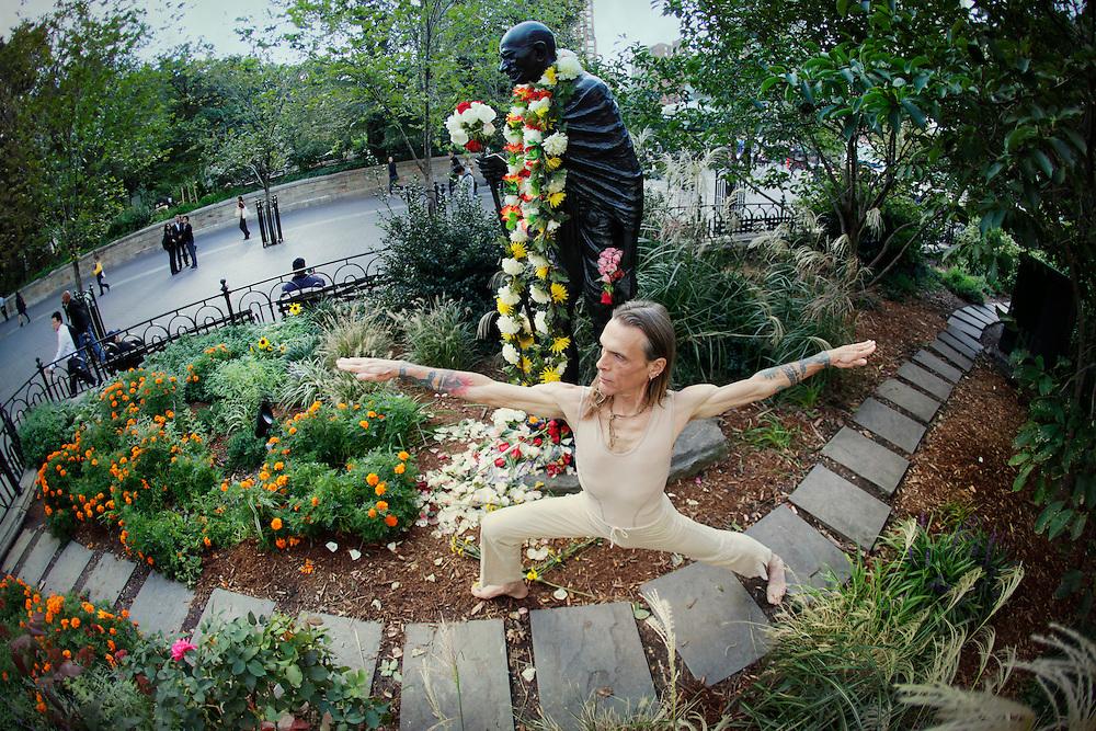 David Life & Mahatma Gandhi at Union Square, New York