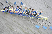 Putney/Barnes,  Great Britain,  University of East Anglia pass under Barnes Rail Bridge - 2008 Head of the River Race. Raced from Mortlake to Putney, over the Championship Course.  15/03/2008  [Mandatory Credit. Peter Spurrier/Intersport Images] Rowing Course: River Thames, Championship course, Putney to Mortlake 4.25 Miles,