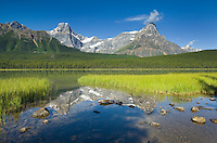 Howse Peak and Mount Chephren from Waterfowl Lakes, Banff National Park Alberta Canada