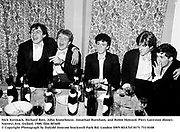 Nick Kermack, Richard Bott, John Stonehouse, Jonathan Burnham, and Robin Howard. Piers Gaveston dinner. Norreys Ave, Oxford. 1980. film 8036f0<br /> &copy; Copyright Photograph by Dafydd Jones<br /> 66 Stockwell Park Rd. London SW9 0DA<br /> Tel 0171 733 0108
