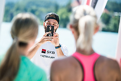 Preparation run for Nocna 10ka around Lake Bled, Slovenia on 9th of June, 2019. Photo by Peter Podobnik / Sportida