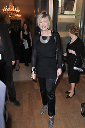 JULIA SOMERVILLE at a private view of the Royal Academy's Modern British Sculpture exhibition held at Burlington House, Piccadilly, London on 18th January 2011.