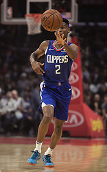 October 21, 2018 - Los Angeles, California, U.S - Shai Gilgeous-Alexander #2 of the Los Angeles Clippers passes the ball during their NBA game with the Houston Rockets on Sunday October 21, 2018 at the Staples Center in Los Angeles, California. (Credit Image: © Prensa Internacional via ZUMA Wire)