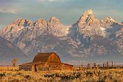 Barn at Mormon's Row in Grand Teton National Park