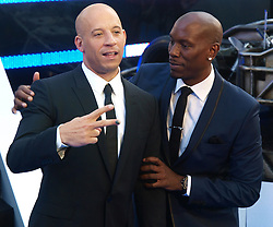 Vin Diesel and Tyrese Gibson at the premiere of Fast & Furious 6 in London, Tuesday 7th May 2013.  Photo by: Max Nash / i-Images