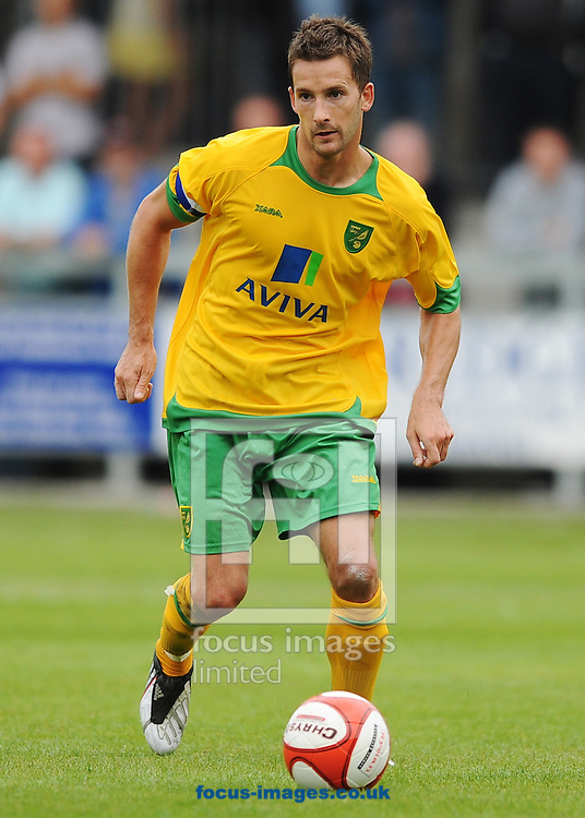 Dartford - Saturday July 11 2009: Adam Drury of Norwich City during the friendly match at Princes Park. (Pic by Alex Broadway/Focus Images)..