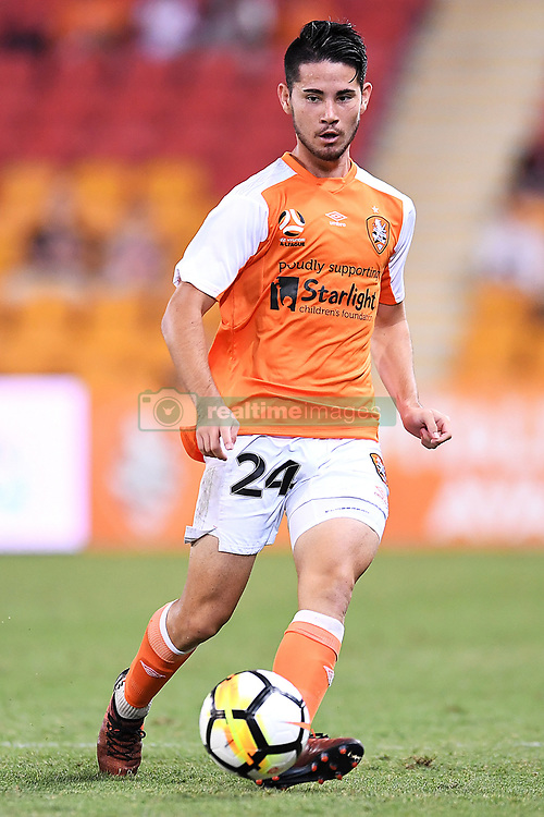 January 18, 2018 - Brisbane, QUEENSLAND, AUSTRALIA - Connor O'Toole of the Roar (#24) passes the ball during the round seventeen Hyundai A-League match between the Brisbane Roar and the Perth Glory at Suncorp Stadium on January 18, 2018 in Brisbane, Australia. (Credit Image: © Albert Perez via ZUMA Wire)