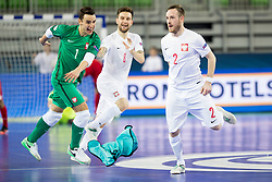 Players of Poland celebrate goal during futsal match between Russia and Poland at Day 1 of UEFA Futsal EURO 2018, on January 30, 2018 in Arena Stozice, Ljubljana, Slovenia. Photo by Ziga Zupan / Sportida