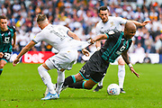 Swansea City forward Andre Ayew (22) in action during the EFL Sky Bet Championship match between Leeds United and Swansea City at Elland Road, Leeds, England on 31 August 2019.